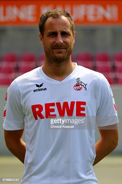 Matthias Lehmann poses during the team presentation of 1 FC Koeln at RheinEnergieStadion on July 18 2016 in Cologne Germany