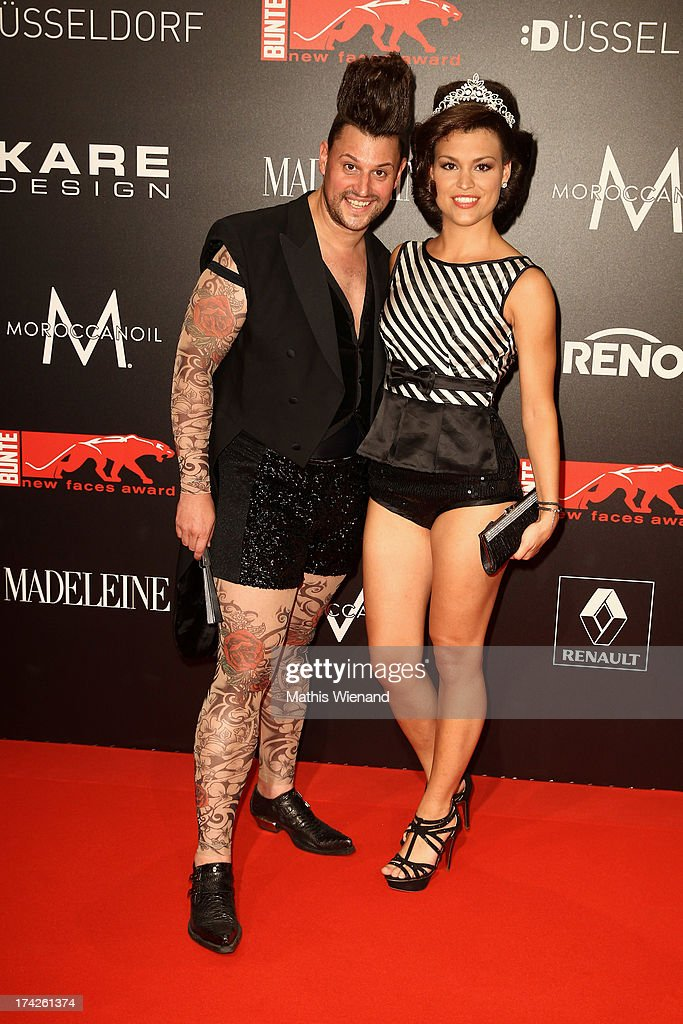 Matthias Maus and Jasmin Lemmer attend the New Faces Award Fashion 2013 at Rheinterrasse on July 22, 2013 in Duesseldorf, Germany.