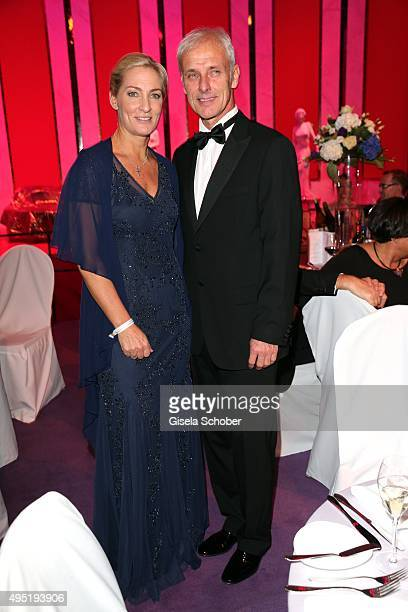 Matthias Mueller CEO Volkswagen AG and his partner Barbara Rittner during the Leipzig Opera Ball 2015 on October 31 2015 in Leipzig Germany