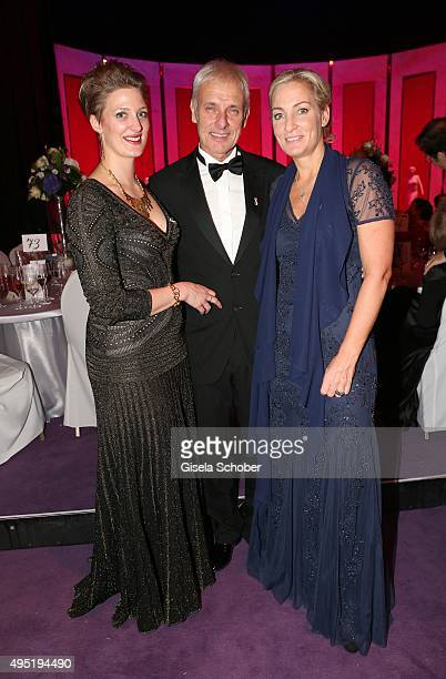 Matthias Mueller CEO Volkswagen AG and his partner Barbara Rittner and his daughter Julia Ortmann during the Leipzig Opera Ball 2015 on October 31...