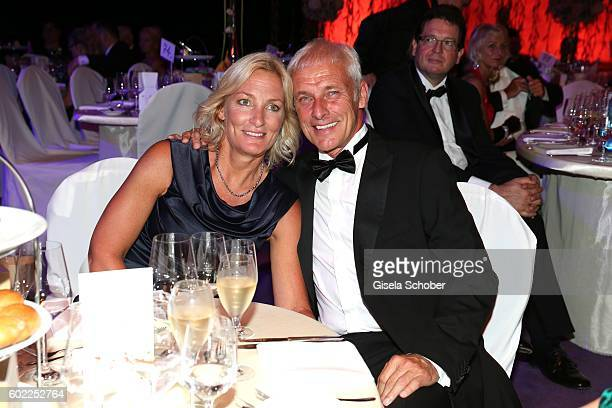 Matthias Mueller CEO Volkswagen AG and his partner Barbara Rittner during the Leipzig Opera Ball 'Let's dance Dutch' at alte Oper on September 10...