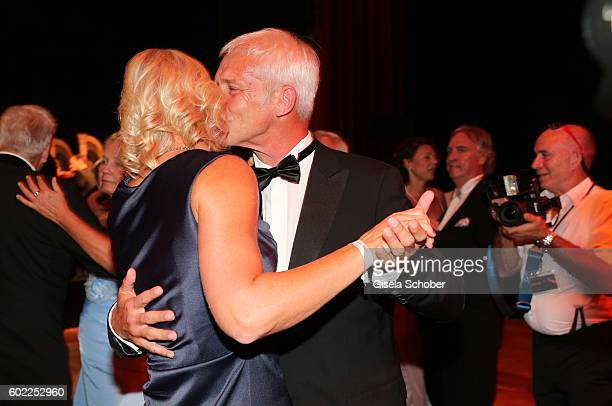 Matthias Mueller CEO Volkswagen AG and his partner Barbara Rittner dance during the Leipzig Opera Ball 'Let's dance Dutch' at alte Oper on September...