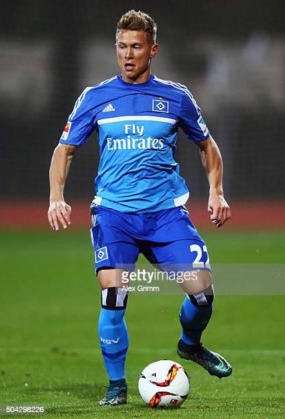 Matthias Ostrzolek of Hamburg controles the ball during a friendly match between Hamburger SV and Ajax Amsterdam at Gloria Sports Center on January 9...