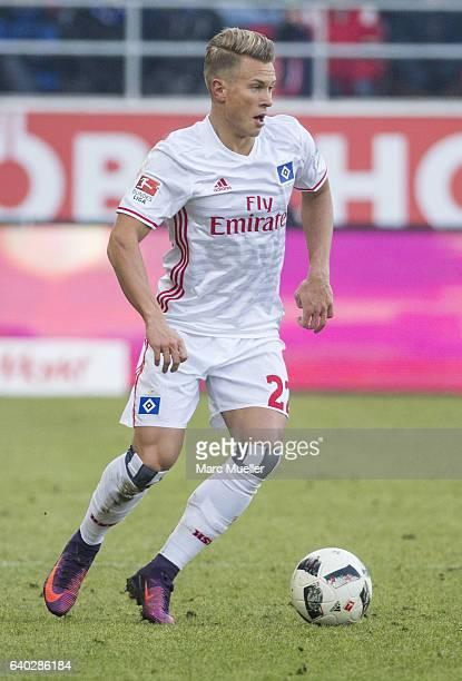 Matthias Ostrzolek of Hamburg during the Bundesliga match between FC Ingolstadt 04 and Hamburger SV at Audi Sportpark on January 28 2017 in...