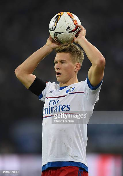 Matthias Ostrzolek of Hamburg in action during the Bundesliga match between Hamburger SV and Borussia Dortmund at Volksparkstadion on November 20...