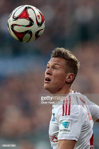 Matthias Ostrzolek of Hamburg in action during the First Bundesliga match between Hamburger SV and SV Werder Bremen at Imtech Arena on November 23...