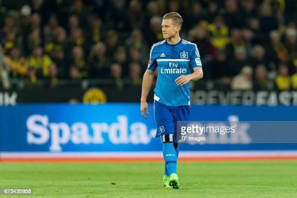 Matthias Ostrzolek of Hamburg looks on during the Bundesliga match between Borussia Dortmund and Hamburger SV at Signal Iduna Park on April 4 2017 in...