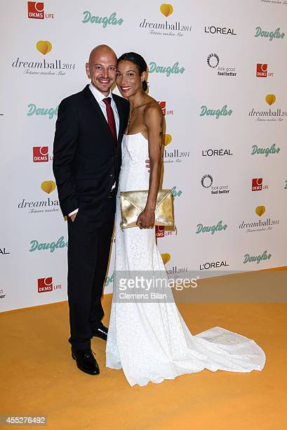 Matthias Pieper and Annabelle Mandeng attend the Dreamball 2014 at Ritz Carlton on September 11 2014 in Berlin Germany