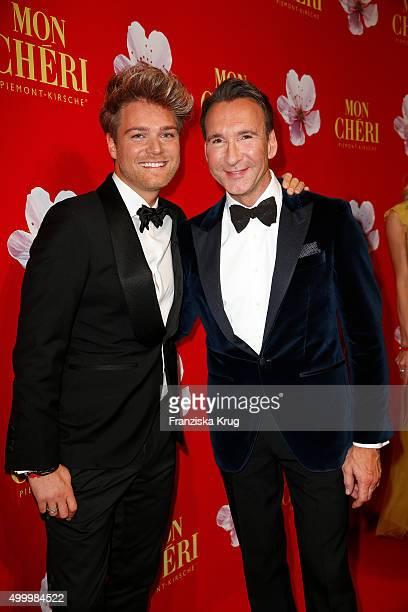 Matthias Pridoehl and Jochen Bendel attend the Mon Cheri Barbara Tag 2015 at Postpalast on December 4 2015 in Munich Germany