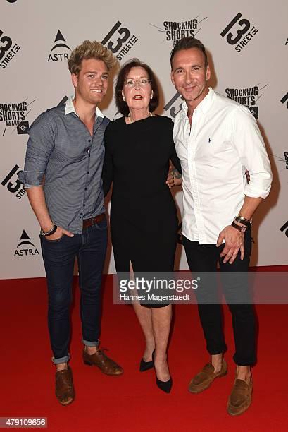 Matthias Pridoehl Annegrid Bendel and Jochen Bendel attend the Shocking Shorts Award 2015 during the Munich Film Festival on June 30 2015 in Munich...