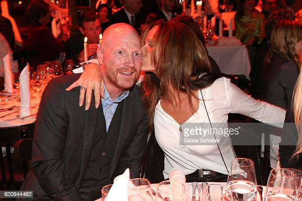 Matthias Sammer and his wife Karin Sammer during the VIP premiere of Schubeck's Teatro at Spiegelzelt on November 3 2016 in Munich Germany