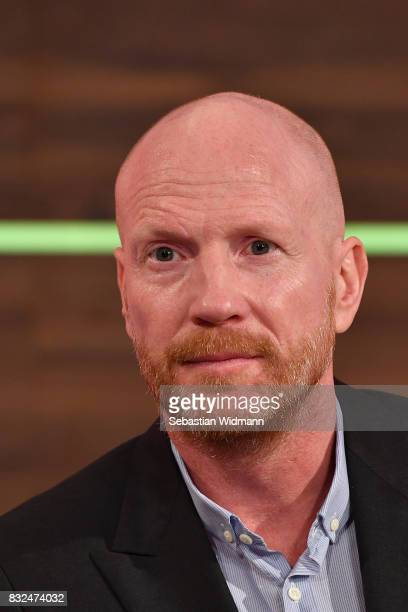 Matthias Sammer gives an interview during the Eurosport Bundesliga Media Day on August 16 2017 in Unterfohring Germany