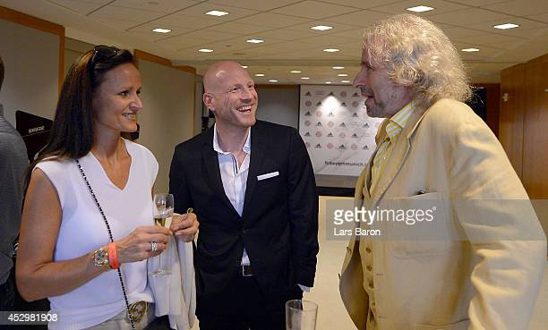 Matthias Sammer is seen with Thomas Gottschalk during the FC Bayern Muenchen office opening on day 2 of the Audi Summer Tour USA 2014 on July 31 2014...