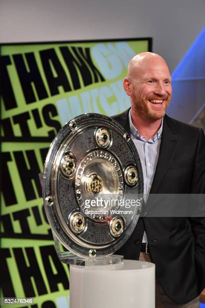 Matthias Sammer poses for a picture during the Eurosport Bundesliga Media Day on August 16 2017 in Unterfohring Germany