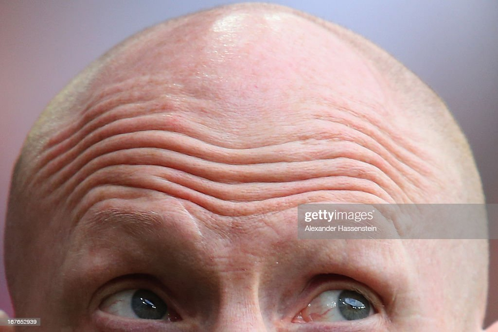 <a gi-track='captionPersonalityLinkClicked' href=/galleries/search?phrase=Matthias+Sammer&family=editorial&specificpeople=555228 ng-click='$event.stopPropagation()'>Matthias Sammer</a>, sporting director of Bayern Muenchen looks on prior the Bundesliga match between FC Bayern Muenchen and SC Freiburg at Allianz Arena on April 27, 2013 in Munich, Germany.