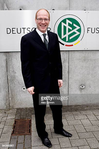 Matthias Sammer Sports Director of the German Football Association poses after a press conference on the promotion of talents and elites at the DFB...