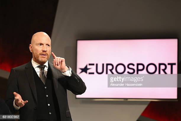 Matthias Sammer talks during a photocall at Eurosport studios on January 16 2017 in Munich Germany