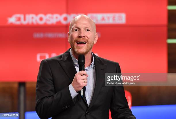 Matthias Sammer talks during the Eurosport Bundesliga Media Day on August 16 2017 in Unterfohring Germany