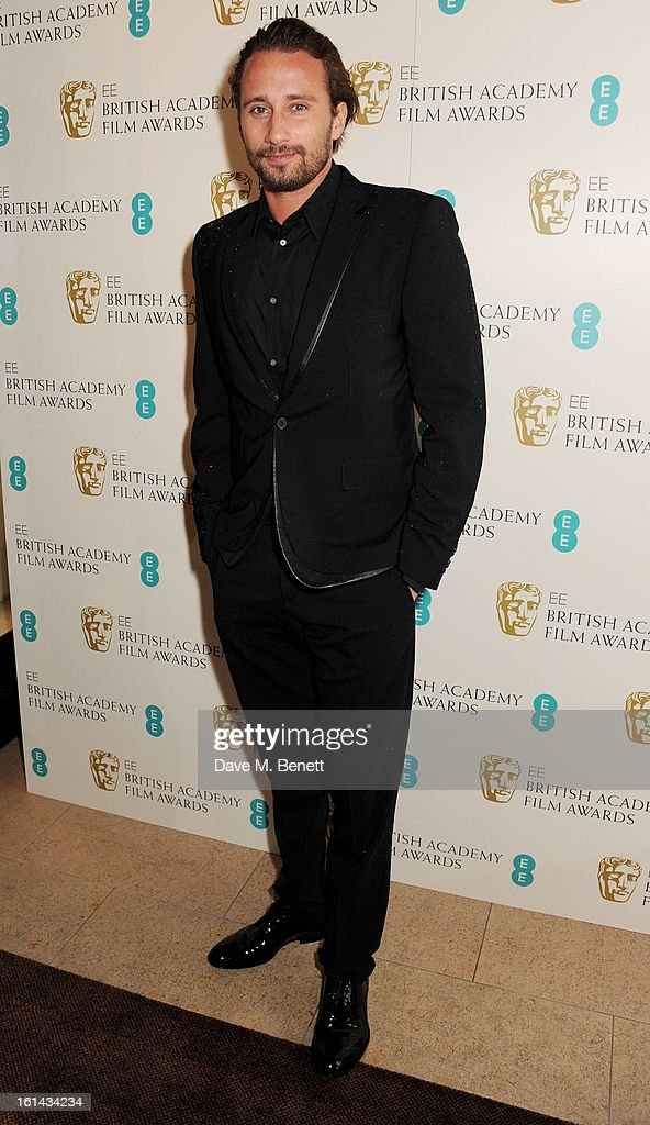 Matthias Schoenaerts arrives at the EE British Academy Film Awards at the Royal Opera House on February 10, 2013 in London, England.