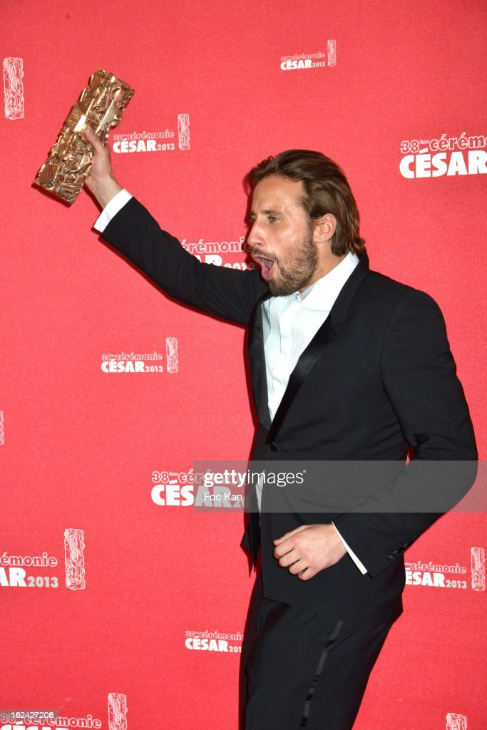 <a gi-track='captionPersonalityLinkClicked' href=/galleries/search?phrase=Matthias+Schoenaerts&family=editorial&specificpeople=6259320 ng-click='$event.stopPropagation()'>Matthias Schoenaerts</a> attends the Awards Room - Cesar Film Awards 2013 at the Theatre du Chatelet on February 22, 2013 in Paris, France.
