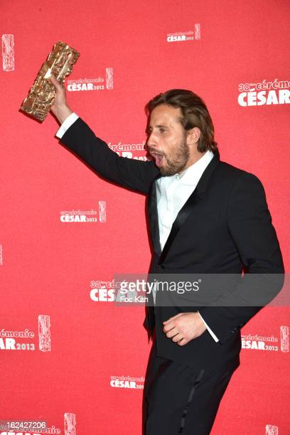 Matthias Schoenaerts attends the Awards Room Cesar Film Awards 2013 at the Theatre du Chatelet on February 22 2013 in Paris France