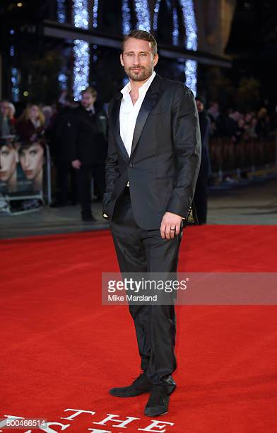 Matthias Schoenaerts attends the UK Film Premiere of 'The Danish Girl' on December 8 2015 in London United Kingdom