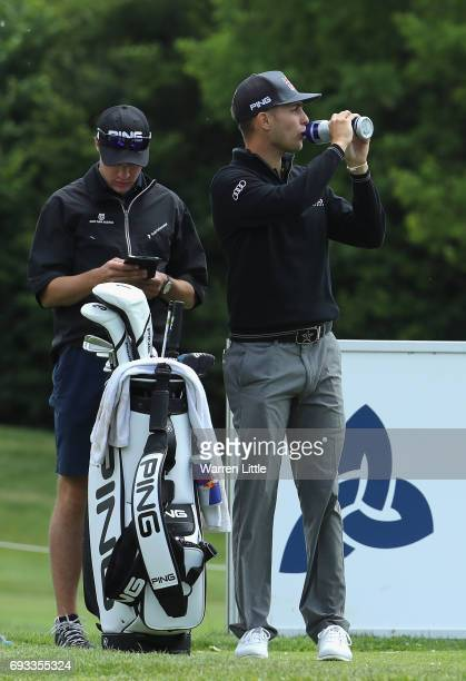 Matthias Schwab of Austria in action during the proam ahead of the Lyoness Open at Diamond Country Club on June 7 2017 in Atzenbrugg Austria