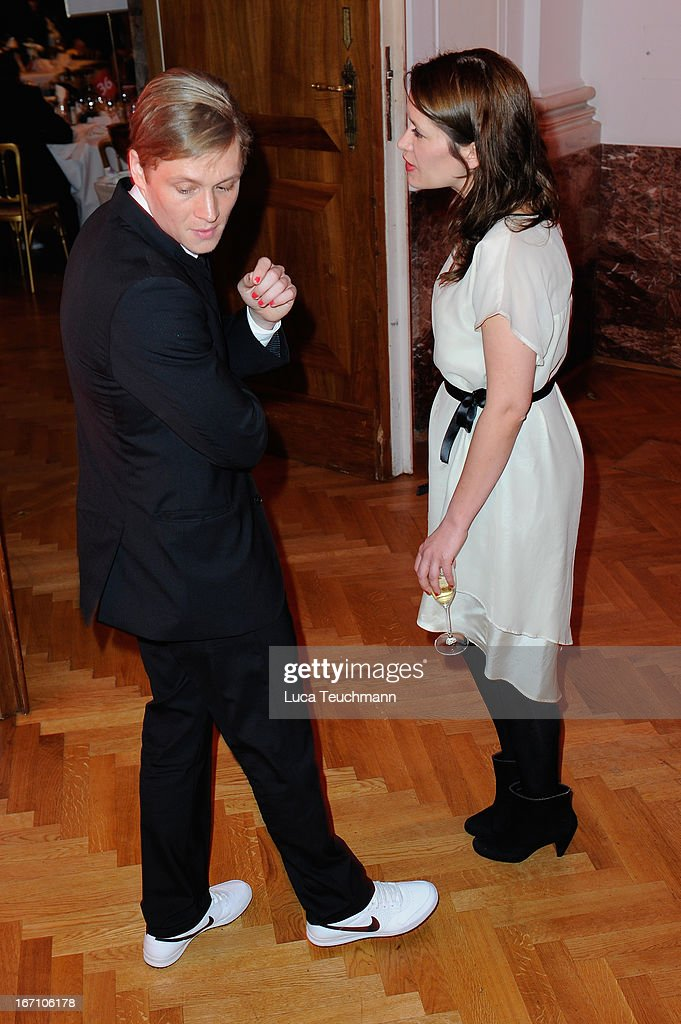Matthias Schweighoefer and Ani Schromm seen leaving the 'Romy Award 2013 - Aftershow' at Hofburg Vienna on April 20, 2013 in Vienna, Austria.