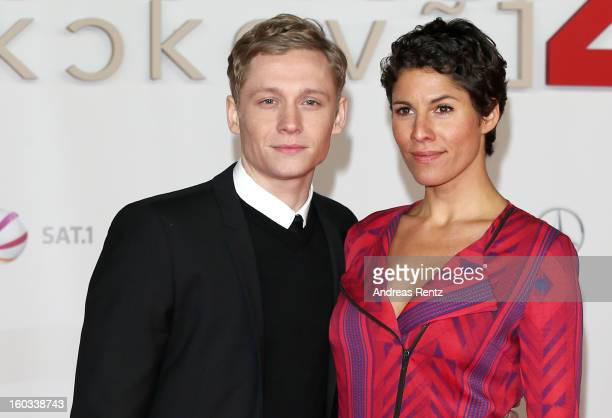 Matthias Schweighoefer and Jasmin Gerat attends 'Kokowaeaeh 2' Germany Premiere at Cinestar Potsdamer Platz on January 29 2013 in Berlin Germany