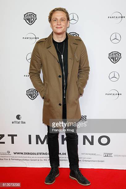 Matthias Schweighoefer attends the 'Der geilste Tag' Premiere at Zoo Palast on February 24 2016 in Berlin Germany