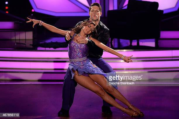 Matthias Steiner and Ekaterina Leonava perform on stage during the 3rd show of the television competition 'Let's Dance' on March 27 2015 in Cologne...