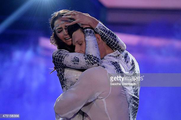 Matthias Steiner and Ekaterina Leonova perform on stage during the 11th show of the television competition 'Let's Dance' on May 29 2015 in Cologne...