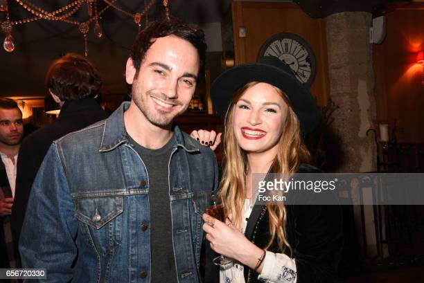 Matthieu Boujenah and Chloe Clor attend 'Apero Mecs A Legumes' Party Hosted by Grand Seigneur Magazine at the Bistrot Marguerite on March 22 2017 in...