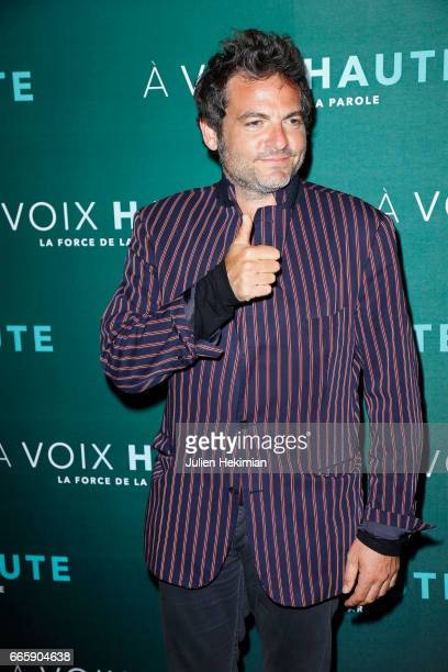 Matthieu Chedid attends 'A voix haute' documentary screening Premiere at Cinema Max Linder on April 7 2017 in Paris France