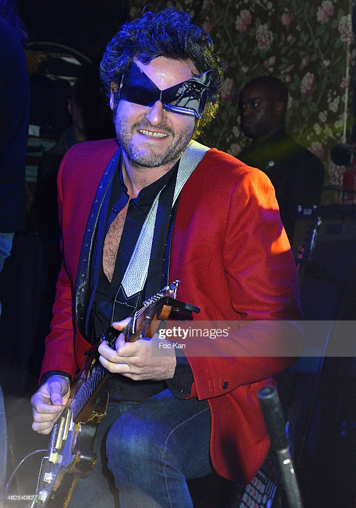 Matthieu Chedid performs during the Matthieu Chedid In Concert at the Bus Palladium Anniversary Party on April 3, 2014 in Paris, France.