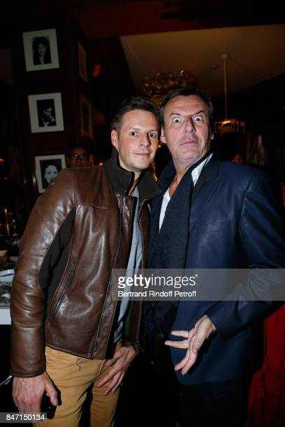 Matthieu Delormeau and JeanLuc Reichmann attend the Reopening of the Hotel Barriere Le Fouquet's Paris decorated by Jacques Garcia at Hotel Barriere...