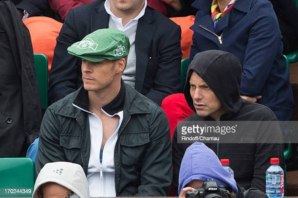 Matthieu Delormeau and Marc Olivier Fogiel sighting at the french open 2013 at Roland Garros on June 9 2013 in Paris France