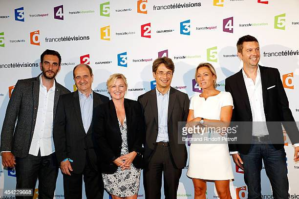 ÊÊMatthieu Noel Pierre Lescure AnneElisabeth Lemoine Bruno Patino Anne Sophie Lapix and Maxime Switek attend the 'Rentree De France Televisions' at...