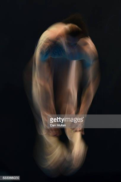 Matthieu Rosset of France competes in the Mens 1m Final on Day Two of the LEN European Swimming Championships at the Aquatics Centre on May 10 2016...