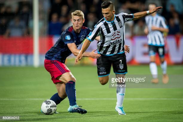 Matthijs de Ligt of Ajax Brahim Darri of Heracles Almelo during the Dutch Eredivisie match between Heracles Almelo and Ajax Amsterdam at Polman...