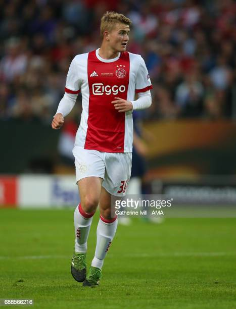 Matthijs de Ligt of Ajax during the UEFA Europa League Final match between Ajax and Manchester United at Friends Arena on May 24 2017 in Stockholm...