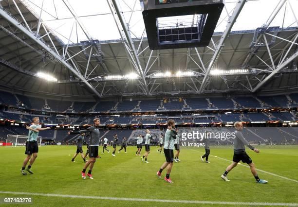 Matthijs de Ligt of Ajax Frenkie de Jong of Ajax Donny van de Beek of Ajax Lasse Schone of Ajax Amin Younes of Ajax Davy Klaassen of Ajaxduring a...