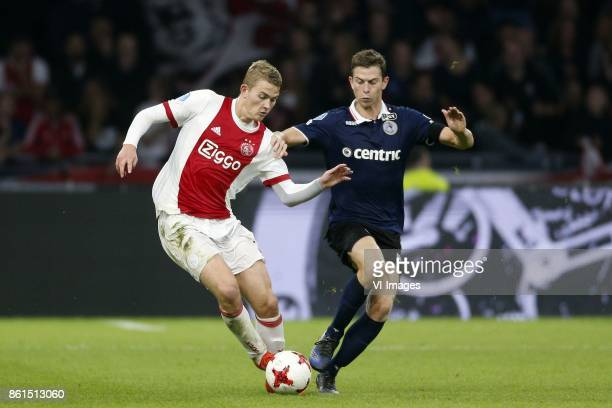 Matthijs de Ligt of Ajax Robert Muhren of Sparta Rotterdam during the Dutch Eredivisie match between Ajax Amsterdam and Sparta Rotterdam at the...