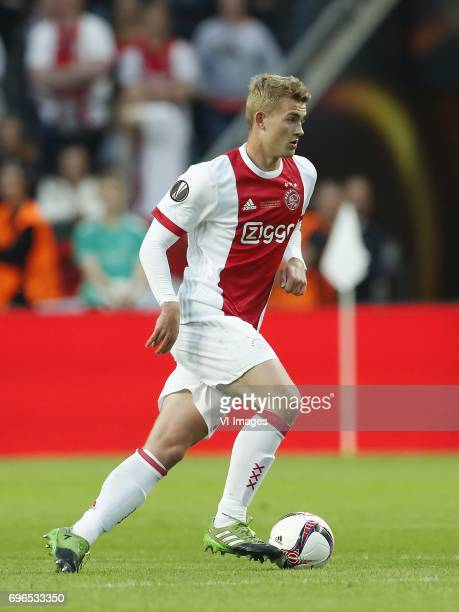 Matthijs de Ligt of Ajaxduring the UEFA Europa League final match between Ajax Amsterdam and Manchester United at the Friends Arena on May 24 2017 in...
