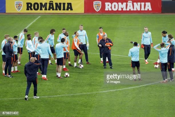 Matthijs de Ligt of Holland assistant trainer Fred Grim of Holland Tonny Vilhena of Holland Marco van Ginkel of Holland Timothy FosuMensah of Holland...
