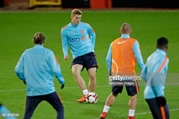 Matthijs de Ligt of Holland during the match between Training Holland in Aberdeen at the Pittodrie Stadium on November 8 2017 in Aberdeen United...