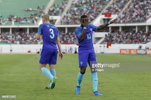 Matthijs de Ligt of Holland Quincy Promes of Hollandduring the friendly match between Morocco and The Netherlands at Grand Stade Adrar on May 31 2017...