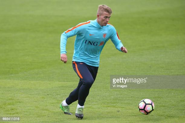 Matthijs de Ligt of Hollandduring a training session prior to the FIFA World Cup 2018 qualifying match between The Netherlands and Luxembourg on June...