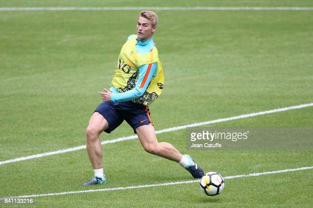 Matthijs de Ligt of the Netherlands during training session on the eve of the FIFA 2018 World Cup Qualifier between France and The Netherlands at...