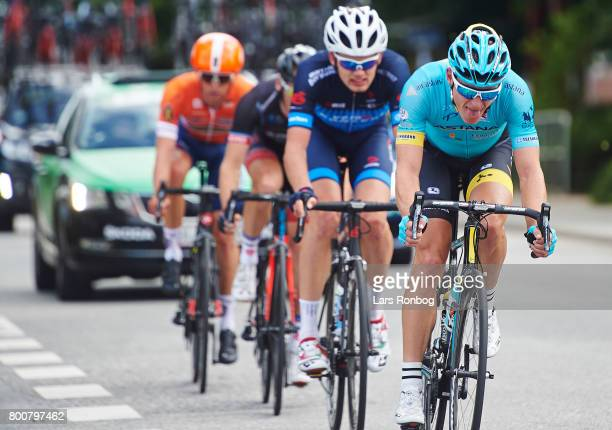Matti Breschel of Astana Pro Cycling in action during the Elite Mens Road Race in the Danish Road Cycling Championships on June 25 2017 in Grindsted...